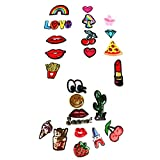 #6: Segolike 26 Pieces Assorted Iron on Sequin Applique Embroidered Sewing Patches DIY Decoration Embellishments