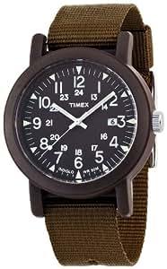 Timex T2N363PF Orologio Analogico da Polso da Uomo, Tessuto, Verde