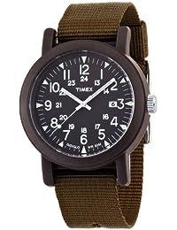 Timex - Homme - T2N363PF - Quartz Analogique - Noir - Vert - Tissu