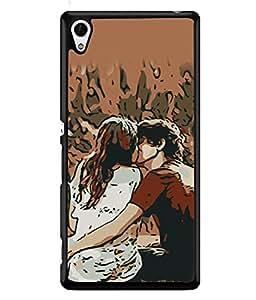 PrintVisa Designer Back Case Cover for Sony Xperia Z3+ :: Sony Xperia Z3 Plus :: Sony Xperia Z3+ dual :: Sony Xperia Z3 Plus E6533 E6553 :: Sony Xperia Z4 (Love Memorable Unforgetable Time Hug Grab Eachother Brown)
