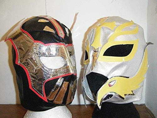 Mysterio Für Erwachsenen Rey Kostüm - Wrestling Schwarz Sin Cara Hunico & Rey Mysterio Modisches Kostüm-Set