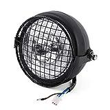 Keenso 6,5 zoll LED Motorrad Scheinwerfer Licht Lampe mit Metallgrill Abdeckung & Halterung