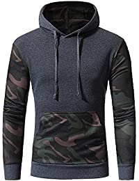 IMJONO Jacket,2019 Neujahrs Karnevalsaktion Herrenkleidung Men es  Camouflage Long SleevePrint Hooded Sweatshirt Tops Jacket 9c218c8b1b