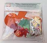 Neuf pour 2017, bonhomme en pain d'épices de Noël pour enfants–Kit de création de cartes–rend 4Unique et personnalisé de cartes de Noël
