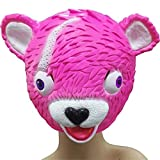 Fortnite Rosa Bear Maske für Kinder Pink Bear Cuddle Team Leader Latex Kostüm Spielzeug für Kinder