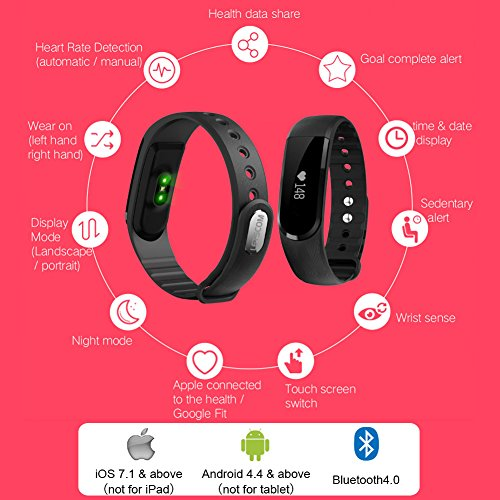 LETSCOM-Fitness-Tracker-Watch-Bluetooth-40-Heart-Rate-Monitor-Bracelet-IP67-Waterproof-Touch-Screen-Smart-Bands-with-Activity-Tracker-for-iPhone-Android-Smartphone