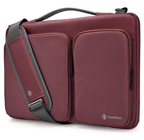 Tomtoc Sac à Bandoulière pour Ordinateur Portable 15 Pouces, Housse Sac à Main pour 15,6 Pouces ThinkPad Dell HP Acer ASUS Toshiba Tablette Samsung Ch...