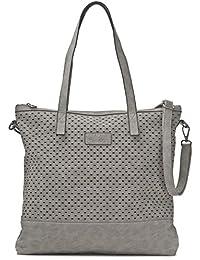 MIYA BLOOM, Damen Handtaschen, Schultertaschen, Umhängetaschen, Shopper, XL-Shopper, DIN-A4, 40,5 x 40,5 x 2,5 cm (B x H x T)
