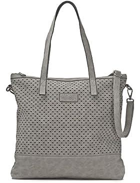 Damen Handtasche - XXL Shopper mit abnehmbarem Schultergurt - DIN A4 fähiges Format 40,5 x 40,5 x 2,5 cm - Umhängetasche...