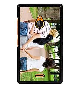 Fuson Designer Back Case Cover for Microsoft Lumia 540 Dual SIM (Friends Lovers Misbehave Mislead Fraud)