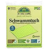 If you care Schwammtuch kompostierbar/waschbar / gentechnikfrei, 2er Pack (2 x 5 Stück)