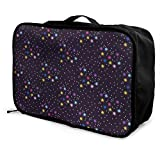Portable Luggage Duffel Bag Twinkle Star Travel Bags Carry-on In Trolley Handle