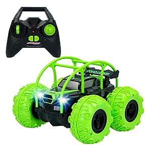 ColorBaby -  Coche RC anfibio volteretas Sprint Evo Stunt verde CBtoys (46384)