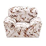 Magideal Single Sofa Cover Spandex Elastic Couch Case Seat Slipcover Leaves Decor