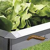 bellissa Schneckenblech-Set aus Metall - 7521 - Schneckenzaun für den Garten, feuerverzinkt - 10-TLG. Set, 6X Schneckenblech + 4X Eckteil