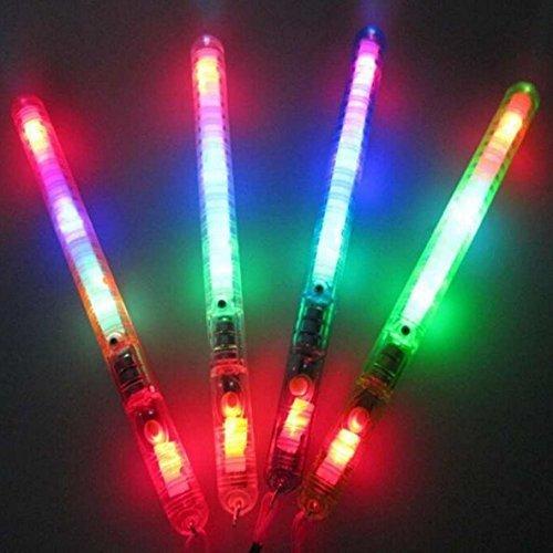 UChic 5 STÜCKE Blinkende Zauberstab LED Leuchten Glow Stick Patrol Blinkende Multicolor Blinkende Spielzeug Konzert Party Favors Lieferungen