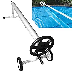 Scallop Swimming Pool Cover Reel Systems Pool Cover Roller Reel For Solar Panel Pool Cover Uk