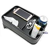 Multifunktionale Aufbewahrungsbox für den Auto-Rücksitz, Ablage für Getränke und Lebensmittel, Becherhalter, usw.