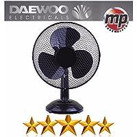 "Daewoo 12"" Electric Oscillating Worktop Desk Table Air Cooling Fan (Black)"