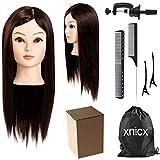 xnicx 22' (57cm) Castano molto chiaro Testastudio Capelli Veri Manichini per parrucchiera Testastudio Testastudio Parrucchieri