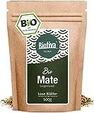 Matetee BIO 500g - ungerösteter grüner Mate Tee - Koffeinhaltige Yerba Mateblätter - Bio-Anbau - Verpackt und kontrolliert in Deutschland - GP: €2,58/100g