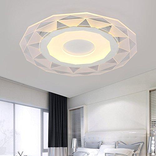 Thin rotondo acrilico traslucido lampada camera da