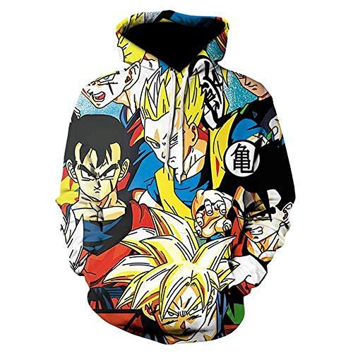 zysymx Hot Anime Dragon Ball Hoodies Männer Frauen 3D Sweatshirts Saiya Vegeta Kinder Goku Hoodie Männlichen Mantel Lässig Cartoon Jungen Outwear