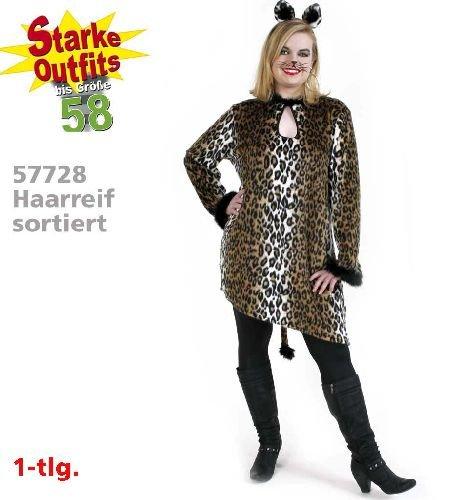 narrenwelt Leopard Big Shirt Leo vestito da donna costume di peluche 1 pz. Dimensioni: 46 - 58