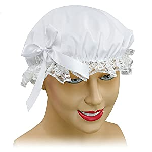 White Maids Cap Victorian Lady Lace Bonnet Hat Cleaner Fancy Dress (gorro/sombrero)