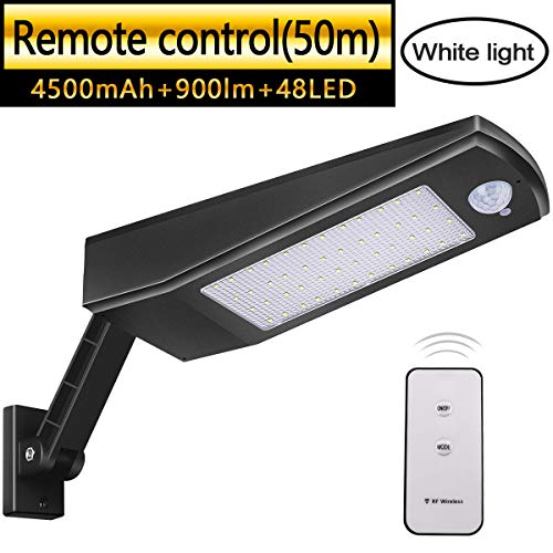 Luz Solar 48 LED 4500mAh 900lm IP65 Impermeable Luces de Seguridad al...