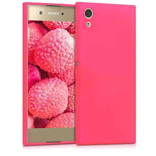 kwmobile Sony Xperia XA1 Hülle - Handyhülle für Sony Xperia XA1 - Handy Case in Neon Pink Pink Handy Cover