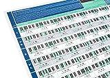 Das wirklich nützliche Akkordfortschreibungsposter – mit unserem Klavier- und Keyboard-Akkordposter kannst du Klavier und Keyboard spielen lernen – A1 Hochglanzpapier auf A4 gefaltet