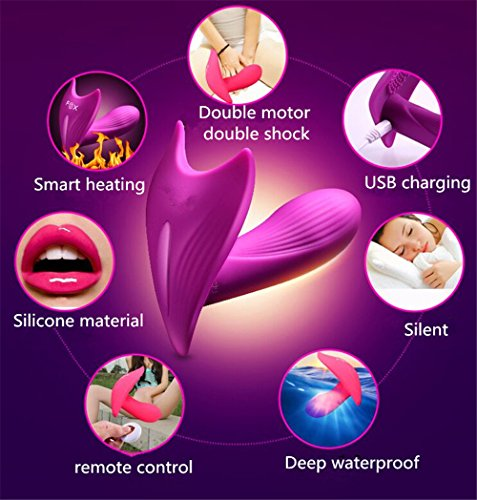 7 Speed ​​15M Butterfly Wireless Fernbedienung Strap auf Vibrating Dildo G Spot Clitoris Stimulator Wearable Vibrator Sex Toys Für Frau (PURPLE) - 3