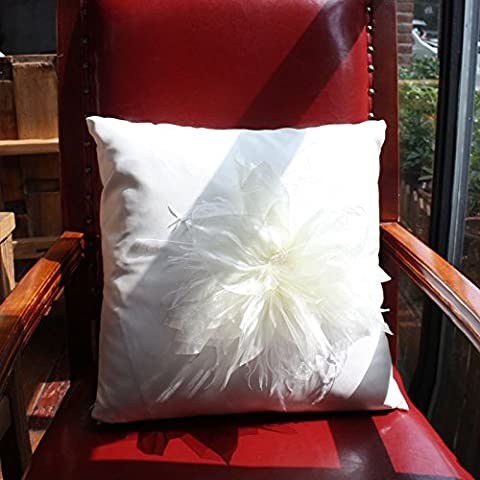 Baozengry Canapé En Cuir Polyuréthane Coussin Oreiller Coussin Oreiller Sleeper,45X45Cm (Contenant De Coeur), Fleur
