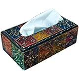 Adidev Multicolor Wooden Tissue Paper Holder