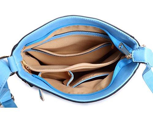 Damen Mode lang Promi Zipper Detaillierte Messenger Tasche Hot Selling Umhängetaschen Taschen CWJM252 CWJM612 CWRM150961 Handgepäck Braun