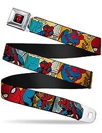 Spider-Man Marvel Comics Superhero Comic Panels Seatbelt Belt