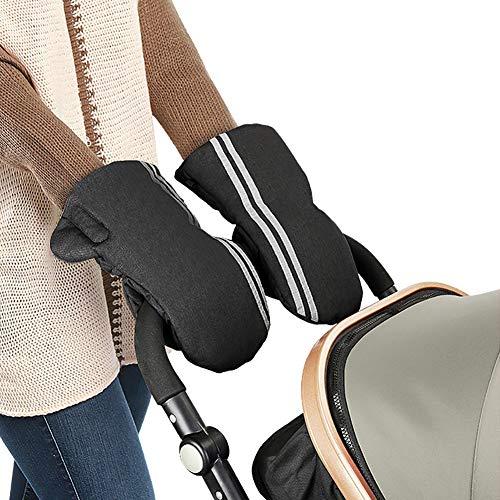 Kinderwagen Handschuhe Winter Im Freien Kinderwagen Warm Bleiben Handschuh Plus SAMT Verdicken Winddicht Wasserdicht Reflexstreifen Design.