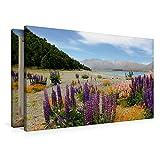 Premium Textil-Leinwand 90 cm x 60 cm quer Lake Tekapo   Wandbild, Bild auf Keilrahmen, Fertigbild auf echter Leinwand, Leinwanddruck: eine im Land der Kiwis (CALVENDO Natur)