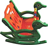 Pihu Enterprises Baby Rocking Chair With Safety Bar And Arm Rest-Orange & Green