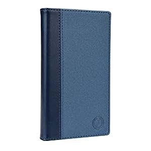 Jo Jo Cover Millar Series Leather Pouch Flip Case For iBall Andi 5-M8 Dark Blue Dark Blue