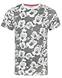 Mickey Mouse Disney Face All Over Print Men's T-Shirt (L)