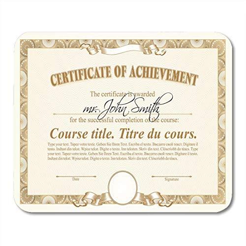 Luancrop Mauspads Seal Achievement Gold Zertifikat Dokument Antique Award Bank Bill Mauspad für Notebooks, Desktop-Computer Matten Bürobedarf - Gold Seal Häuser