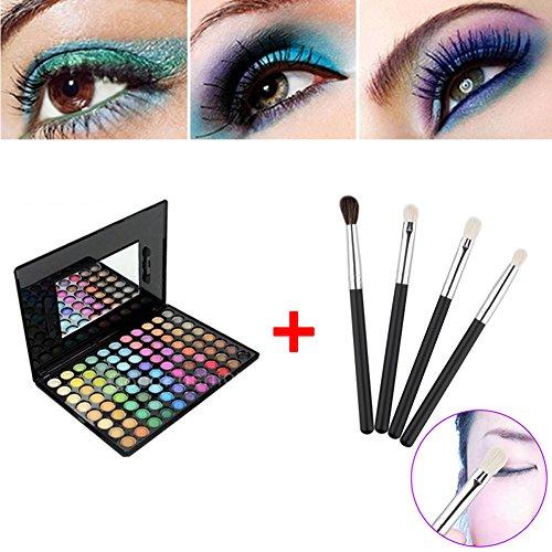 Hrph Kit 88 Couleurs Palette de Maquillage Eyeshadows + 4pcs Pinceaux de Maquillage Eye Foundation Blending Brush