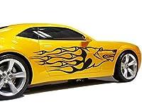 Autoaufkleber Flammenwolf B x H: 40cm x 12cm Farbe: rot von Klebefieber®