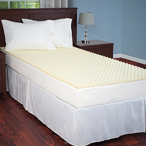 Everyday Home Egg Crate Mattress Topper Twin XL designed to add extra comfort and support. Great for dorms, hospital beds, cots, campers, more