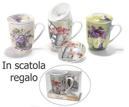 Newsbenessere.com 51M8dt1BaeL 2 Tazze per tisane in porcellana stampa,antica erboristeria ,in scatola regalo