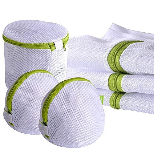 Wäschenetz Hitueu 6 Stück Set Wäschesack Wäschebeutel Schützt Feinwäsche BH's Wäschesack Für Waschmaschine Grün