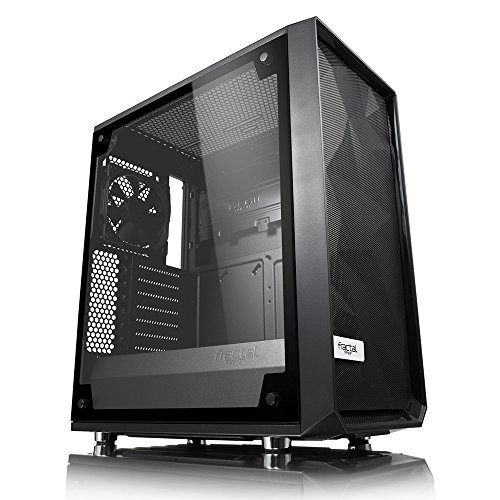 Fractal Design High Airflow Compact meshify C BKO gehärtetem Glas ATX PC Fall–Schwarz