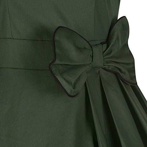 MNBS - Robe - Trapèze - Sans Manche - Femme green